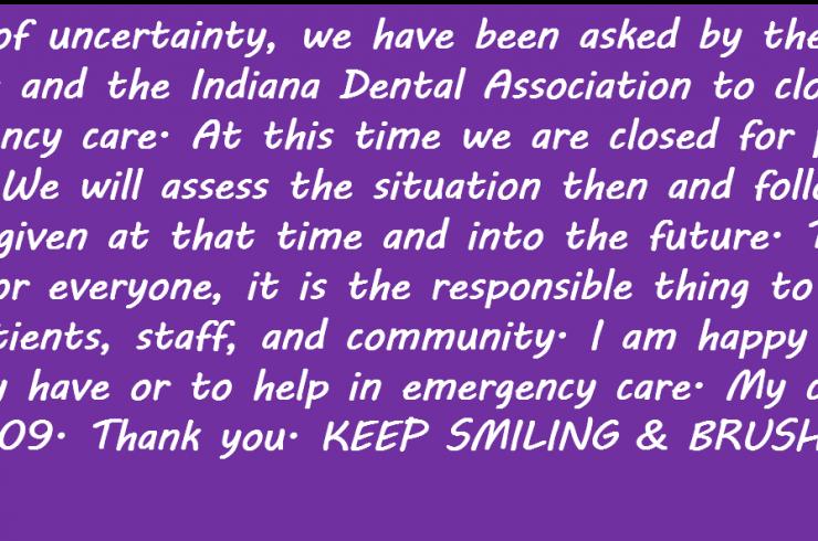 Corona Virus Message from Dr. Litz